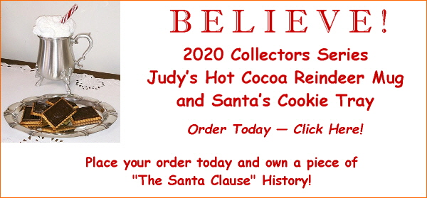 2017 Collectors Series Pewter Reindeer Cocoa Mug and Santa's Cookie Tray Now Available